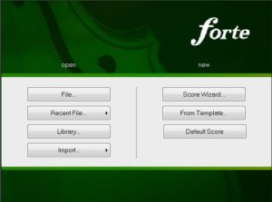 Forte startup screen